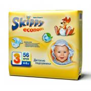 Skippy Econom подгузники для детей, размер M (4-9 кг) 56 шт