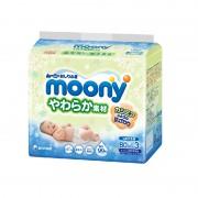 Moony, влажные мягкие салфетки для детей, запасной блок, 80х3 шт (ТРОЙНАЯ)