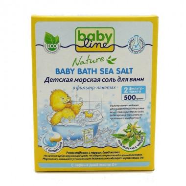 Babyline Nature Детская морская соль для ванн с чередой в фильтр-пакетах, 500 г