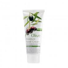 FoodaHolic, Увлажняющий крем для рук с экстрактом оливы Olive Moisture Hand Cream, 100 мл