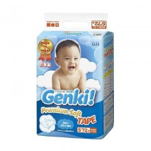 Genki подгузники Premium Soft S (4-8 кг) 72 шт.