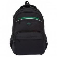 Grizzly, Школьный рюкзак для мальчика, черный-зеленый, RB-962-2