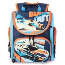 Grizzly, Школьный рюкзак для мальчика, темно-синий-голубой, машина, RA-970-3