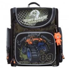 Grizzly, Школьный рюкзак для мальчика, Orange Bear, SI-20