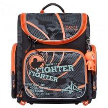Grizzly, Школьный рюкзак для мальчика, Orange Bear, стрелок, SI-21