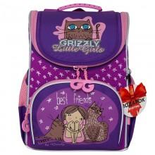 Grizzly, Школьный рюкзак для девочки, аметист-фиолетовый, Best Friends, RA-973-4