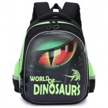 Grizzly, Школьный рюкзак для мальчика, черный, Динозавр глаз, RA-978-3