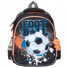 Grizzly, Школьный рюкзак для мальчика, черный, футбол, ZI-34