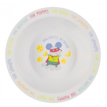 Глубокая тарелка для кормления Happy Baby с антисколзящим дном