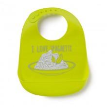 Happy Baby Нагрудник силиконовый Bib pocket