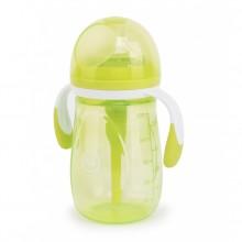 Бутылочка для кормления с ручками Happy Baby антиколиковая с силиконовой соской, 300 мл.
