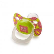 Пустышка силиконовая симметричная с колпачком Happy Baby Baby pacifier 12-24 м