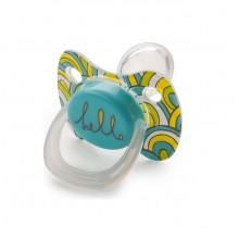 Пустышка силиконовая ортодонтическая с колпачком Happy Baby Baby pacifier 12-24 м