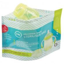 Пакеты для стерилизации Happy Baby в микроволновой печи, 5 шт.