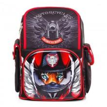 Hatber Рюкзак Comfort school Moto-beast полиэстер, 1 отделение, 3 кармана, 35х28х15 см