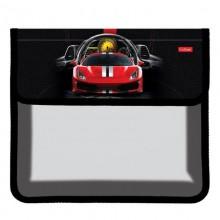 Hatber, Папка для тетрадей Пластиковая, 2 отделения на липучке, А5, Dream car