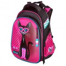 Hummingbird ранец для девочки, Розовая кошка, T54