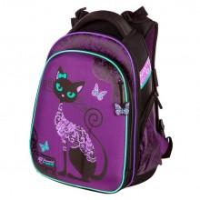 Hummingbird ранец для девочки, фиолетовая кошка, T71