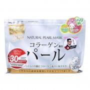 Japan Gals Маска для лица с экстрактом жемчуга, натуральная, 30 шт