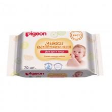 Pigeon Детские влажные салфетки для рук и лица, 70 шт