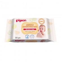 Pigeon Детские влажные салфетки для рук и лица, 25 шт