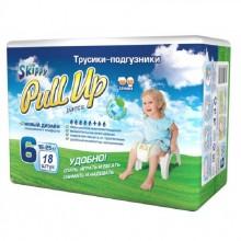 Skippy Pull Up трусики-подгузники для детей, размер XXL (16-25 кг) 18 шт