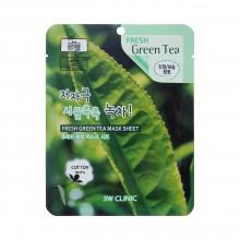 3W Clinic Освежающая тканевая маска с экстрактом зелёного чая, 1 шт