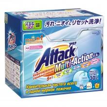 Attack, Multi-Action стиральный порошок с кислородным пятновыводителем и кондиционером, 0,8 кг