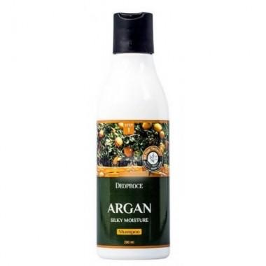 Deoproce Шампунь для волос с аргановым маслом Argan Silky Moisture Shampoo, 200 мл