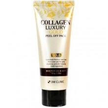 3W Clinic, Маска-пленка для лица Collagen&Luxury Gold  peel off pack, 100 гр