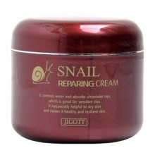 JIGOTT Восстанавливающий крем с муцином улитки Snail Reparing Cream, 100 г