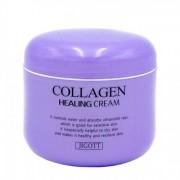 JIGOTT Ночной омолаживающий лечебный крем для лица с коллагеном Collagen Healing Cream , 100 г