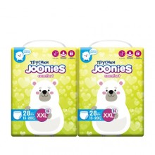 JOONIES Подгузники-трусики Comfort, размер XXL (15-20 кг), 28 шт. 2 шт