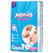 Joonies Подгузники, размер M (6-11 кг), 58 штук