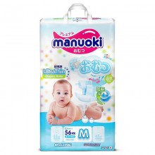 Подгузники Manuoki размер M (6-11 кг) 56 шт