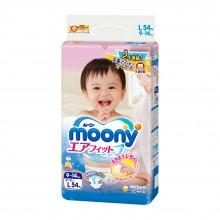 Moony, подгузники L (9-14 кг), 54 шт