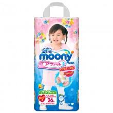 Moony, трусики для девочек (13-25 кг), 26 шт