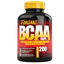 Аминокислоты Mutant BCAA, 200 капсул, 640мг