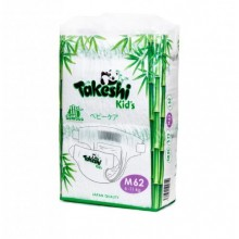 Подгузники для детей бамбуковые Takeshi Kid's M (6-11 кг) 62 шт